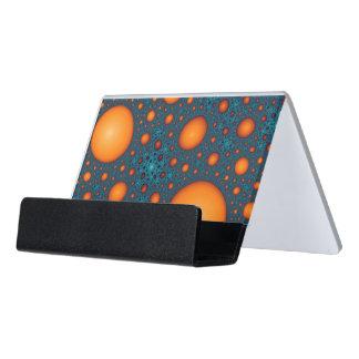 Orange bubbles. Abstract pattern. Desk Business Card Holder