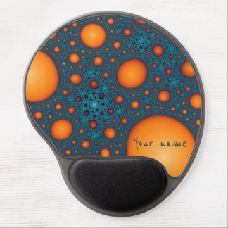 Orange bubbles. Add your name or custom text. Gel Mouse Mat