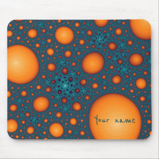 Orange bubbles. Add your name or custom text. Mouse Mat