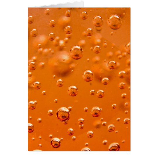Orange bubbles card