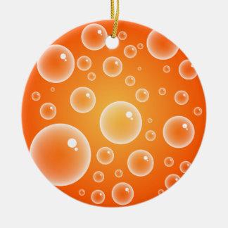 Orange Bubbles Christmas Ornament