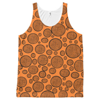 Orange Bubbles Dark All-Over Print Tank Top