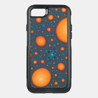 Orange bubbles OtterBox commuter iPhone 8/7 case