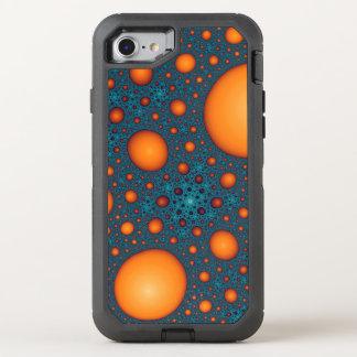 Orange bubbles OtterBox defender iPhone 8/7 case