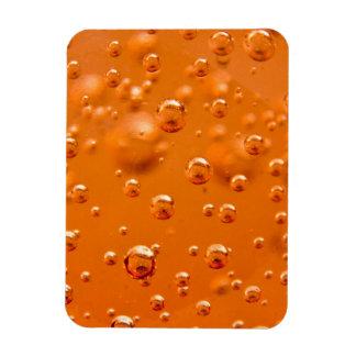 Orange bubbles vinyl magnets