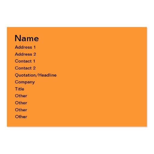 Orange building business card