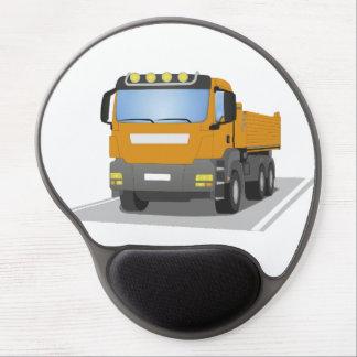 orange building sites truck gel mouse mat