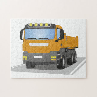orange building sites truck jigsaw puzzle