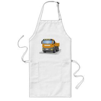 orange building sites truck long apron