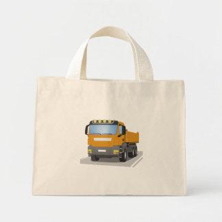 orange building sites truck mini tote bag