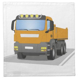 orange building sites truck napkin