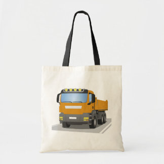 orange building sites truck tote bag