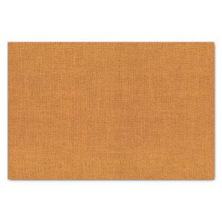 Orange Burlap Texture Tissue Paper