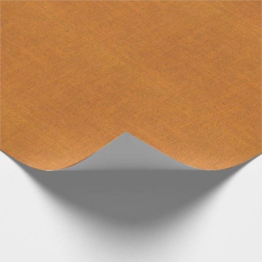 Orange Burlap Texture Wrapping Paper
