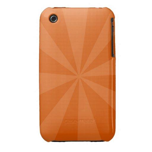 Orange Burst iPhone 3 Case-Mate Case