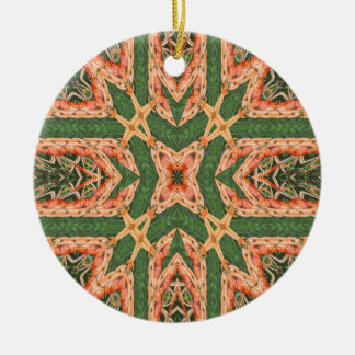 Orange burst ornament