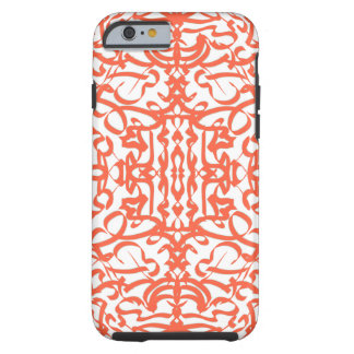 Orange burst tough iPhone 6 case