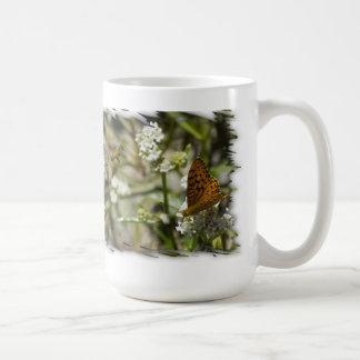 Orange Butterfly and Bee Coffee Mug