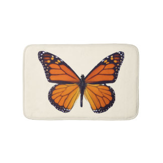 Orange Butterfly Bath Mat