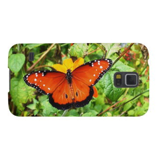 Orange Butterfly Case For Galaxy S5