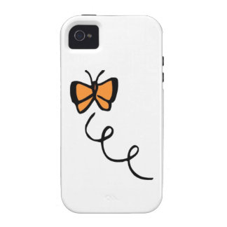 Orange Butterfly Flight iPhone 4/4S Covers