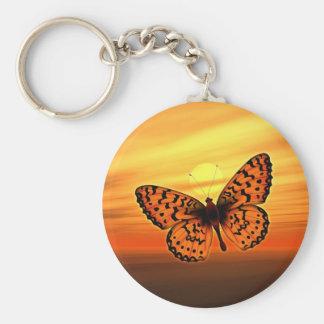 Orange Butterfly Key Ring