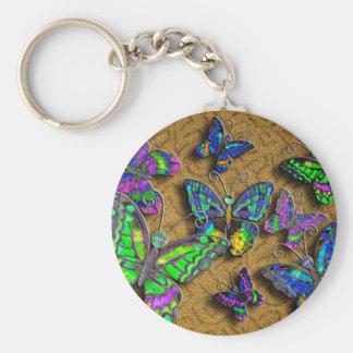 Orange Butterfly Rug keychain