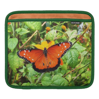 Orange Butterfly Sleeves For iPads
