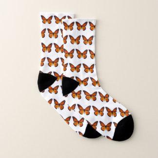 Orange Butterfly Socks 1