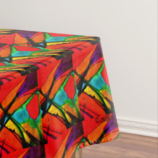 Orange Butterfly Tablecloth