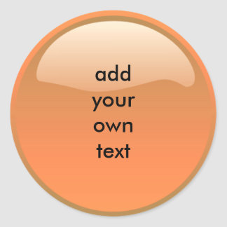 orange button sticker