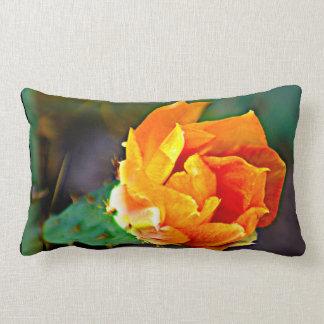 Orange Cactus Bloom Custom Pillow