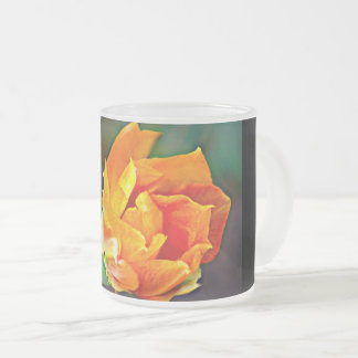 Orange Cactus Bloom Frosted Mug