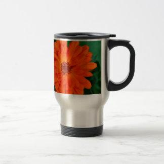 Orange Calendula Marigold Design Travel Mug