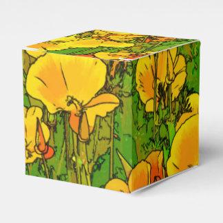 Orange California Poppies 2.2.2 Favour Box