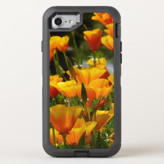 Orange California Poppies OtterBox Defender iPhone 8/7 Case