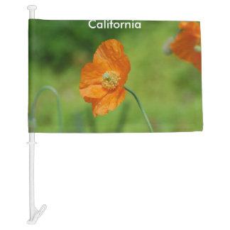 Orange California Poppy Car Flag