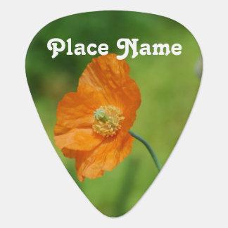Orange California Poppy Plectrum