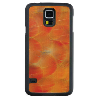 Orange Camelot Macaw Feathers Maple Galaxy S5 Case