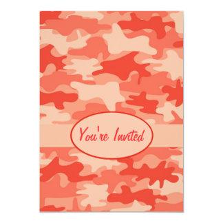 Orange Camo Camouflage Party Event 13 Cm X 18 Cm Invitation Card