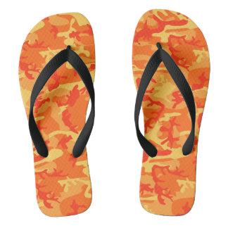 Orange Camo Flip Flops