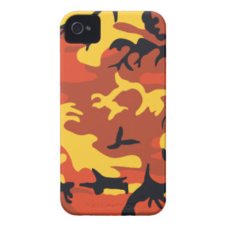 Orange Camouflage Barely There™ iPhone 4 Case