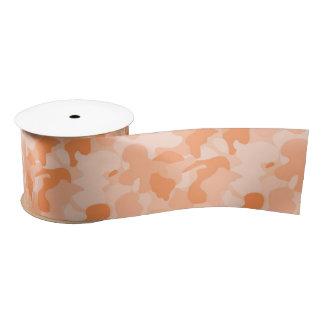 Orange Camouflage Satin Ribbon