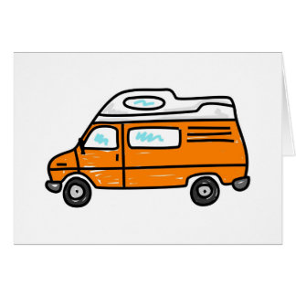 Orange Campervan Greeting Card