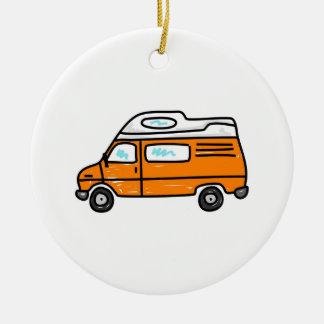 Orange Campervan Christmas Ornament