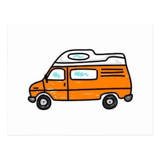Orange Campervan Postcard