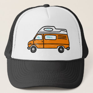 Orange Campervan Trucker Hat