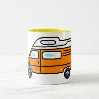 Orange Campervan Two-Tone Coffee Mug