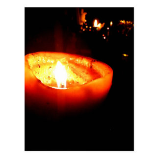 Orange Candle Postcard
