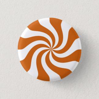 Orange Candy Swirl 3 Cm Round Badge